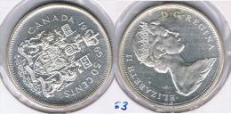 CANADA  50 CENTS DOLLAR 1965 PLATA SILVER Z - Canada