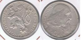 CHECOSLOVAQUIA 10 CORONAS 1957 PLATA SILVER Z - Checoslovaquia