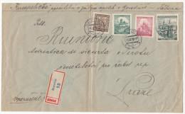 BOHMEN UND MAHREN CECHY A MORAVA Registered Mail Borotin 1939 - Briefe U. Dokumente