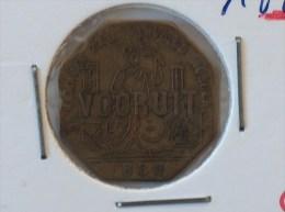 JETON NECESSITE 1880 DE NAMAKER ZAL VERVOLGD WORDEN VOORUIT BROODKAART 1 - Monétaires / De Nécessité