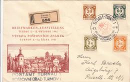 BOHMEN UND MAHREN CECHY A MORAVA Registered Mail Turnau Turnov 1941 - Briefe U. Dokumente