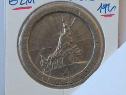 JETON NECESSITE 1921 DOOR SAMENWERKING TOT VERHEFFING DER WERKENDE KLASSE WAARDE VIJF FRANK GENT 1921 5 VOORUIT - Monedas / De Necesidad