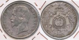 FRANCIA FRANCE 5 FRANCS 1856 NAPOLEON A PLATA SILVER Z - J. 5 Francos