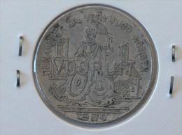JETON NECESSITE 1880 DE NAMAKER ZAL VERVOLGD WORDEN VOORUIT SAM MAATSCH VOORUIT 1FR DEEL JETON GENT - Monétaires / De Nécessité
