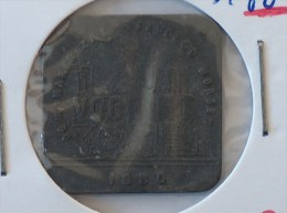 JETON NECESSITE 1880 DE NAMAKER ZAL VERVOLGD WORDEN VOORUIT BROODKAART 1 - Monetary / Of Necessity