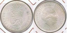 HOLANDA  10 GULDEN 1973 PLATA SILVER Z1 - [ 3] 1815-… : Reino De Países Bajos