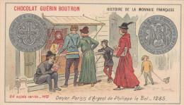 - CHROMO - HISTOIRE DE LA MONNAIE FRANCAISE - N°37 - Denier Parisis D'Argent -  018 - Guérin-Boutron