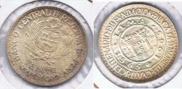 PERU 20 SOLES ORO CASA MONEDA 1965 PLATA SILVER Z - Perú