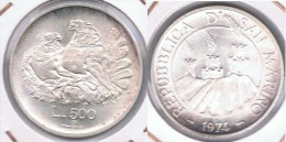 SAN MARINO 500 LIRA 1974 PLATA SILVER Z - San Marino
