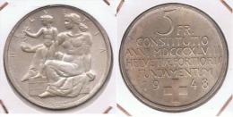 SUIZA HELVETIA  5 FRANCS  1948 PLATA SILVER BONITA Z - Suiza