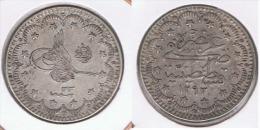 TURQUIA 5 KURUSH 1907 PLATA SILVER Z - Turquia