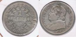 VATICANO LIRA 1867 ROMA PLATA SILVER Z - Vaticano (Ciudad Del)