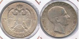 YUGOSLAVIA 50 DINAR 1938 PLATA SILVER Z - Yugoslavia
