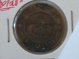 JETON 6 MAI 1844 BRUXELLES S.M. LEOPOLD 1 ROI DES BELGES POSE LA PREMIERE PIERRE DE L ENTREPOT ENTREPOT DE BRUXELLES - Professionals / Firms