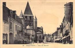 CHAUVIGNY 86 - Rue Du Marché ( Commerces Tabac Hotel Du Lion D'Or ...) - CPA - Vienne - Chauvigny