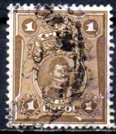 PERU 1924 Portraits  - 1s - Brown (De Saco)  FU - Peru