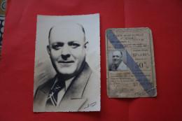 1946 TITRE DE TRANSPORT REDUCTION DEP ORAN CARTE Invalidité 50% ASSOCIATION  ANCIENS COMBATTANTS VICTIME GUERRE+SA PHOTO - Titres De Transport