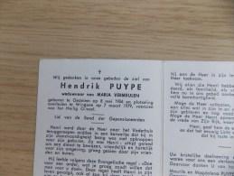 Doodsprentje Hendrik Puype Oedelem 8/5/1906 Wingene 7/3/1979 ( Maria Vermeulen ) - Religione & Esoterismo