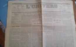 Journal Ancien - L´ UNIVERS - 19 Aout 1905 - Crise Du Patriotisme à L´Ecole - Separation Eglise Etat - Lettres De Russie - Journaux - Quotidiens