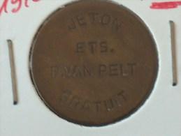 JETON JETON ETS P.VAN PELT GRATUIT KOSTELOOS ETS P VAN PALT LEGPENNING - Professionnels / De Société