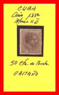 ESPAÑA DEPENDENCIAS ESPAÑOLAS CUBA ALFONSO XII 1880 - Cuba (1874-1898)