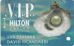 USA - Hilton Atlaantic City, Casino VIP card, used