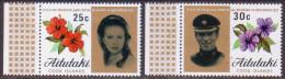 AITUTAKI Cook Islands 1973 SG #82-83 Compl.set MNH Royal Wedding - Aitutaki