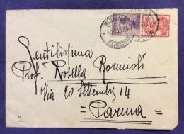 1925 - PUBBLICITARI - 50 C. SINGER SU BUSTA DA MODENA A PARMA - BUSTA SCUOLA ALLIEVI UFFICIALI - IV CORPO D´ARMATA - Marcophilia
