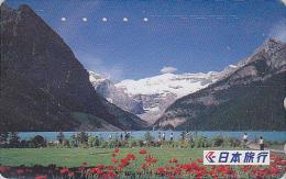 Télécarte Japon - Nippon Travel Agency - Montagne - Mountain Japan Phonecard - Agence De Voyages Reisebüro - JTB 749 - Mountains