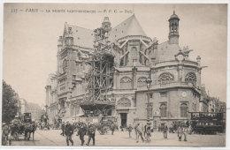 PARIS - La Pointe Saint Eustache - Réparation - Echafaudage   ..(79806) - Arrondissement: 01
