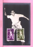 OLimpiques Jeux Games 1960 Sports Real Photo-postcards Spain Maximum Cards Maxicard España Pelota Basca Mc237 - Stamps