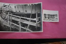 "ORIGINAL PHOTOGRAPHY RFA SHIPYARD ON THE BOAT"" KING-SALVOR""FEB 17TH,1944 Royal Fleet Auxiliary IN FULL WAR->WW2 - Boats"