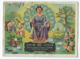 Carte De Pesée Mois De L'année Consacré A Junon - Advertising
