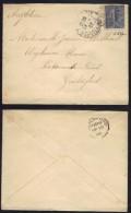 SEMEUSE LIGNEE 25 C. BLEU - # 132 / 1907 LETTRE ¨POUR L ANGLETERRE (ref 6558) - France