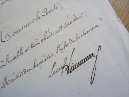 MARQUIS De VILLENEUVE BARGEMON (1777-1835) Prefet AMIENS, Pyrénées Orientales, Nièvre ... - AUTOGRAPHE - Autographes