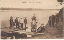 Samkita Gabon, Boat Dock On River, C1910s Vintage Postcard - Gabon