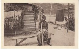 Gabon, Chretien Galoa Christian, Old Man Native, C1920s/30s Vintage Postcard - Gabon