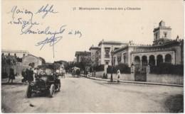 Mostaganem Algeria, Avenue Des 4 Chemins, Auto, Street Scene, C1910s Vintage Postcard - Mostaganem