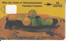 FRENCH POLYNESIA - Les Oranges, Painting/Gauguin(60 Units), Dummy Telecard(no Chip, No CN), 05/91 - Polynésie Française