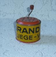 Boite à Musisque à Manivelle - Liège - Verviers - Grand Bazar - Publicitaire -parfait état - Jouets Anciens