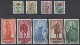Belgique - YT N° 814 à 822 - Neufs * - MH - Cote: 45,00 € - Nuovi