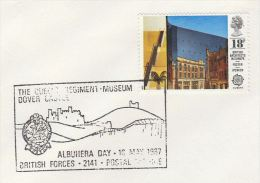 1987 ALBUHERA EVENT Pmk COVER BRITISH FORCES Illus DRAGON Pmk GB Stamps  Dragons - Mythology