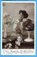 GGE051, Vive Sainte Catherine, Bonnet, Chapeau, 598, J. K.,  Circulée 1910 Sous Enveloppe - Sainte-Catherine