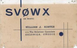 CARTE RADIO AMATEUR QSL GRECE SALONICA GREECE SALONIQUE - Radio Amateur