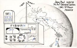 CARTE RADIO AMATEUR QSL JEAN PAUL HAYM SAINT-MAUR - Radio Amatoriale