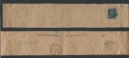 CD06 - Bande Journaux  Semeuse Camée 10 Ct  Outremer Ayant Servi De Collier De Sac Postal - Entiers Postaux