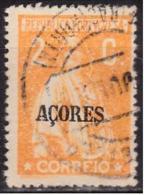"AÇORES-1918-1921, Tipo «CERES» C/ Sobrecarga ""AÇORES""  2 C.  Pap. Cartolina  D. 15x14,   (o) Afinsa Nº 166 - Azores"