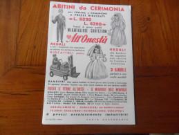 CARTA ASSORBENTE ABITINI DA CERIMONIA  ALL'ONESTA' - Textile & Clothing