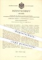 Original Patent - Gebrüder Masera In Winterthur , Schweiz , 1892 , Latten - Schneidemaschine , Holz , Tischler , Säge !! - Documents Historiques