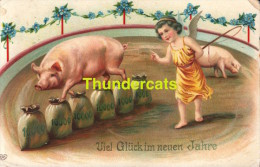 CPA COCHON COCHONS PIG PIGS VARKEN VARKENS SWEINE - Cochons
